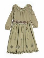 Girl Luna Luna Copenhagen Moss Green Holiday Party Dress Size 5/5T