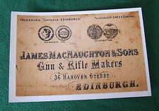 James Macnaughton & sons Gunmakers  Gun Case Label unrestored repo *