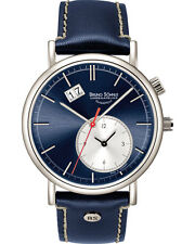 "New Bruno Söhnle ( Sohnle ) Glashütte LAGO ""GMT"" Quartz Watch 17-13156-341"