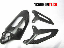 DUCATI 899 1199 1299 CARBON FIBER SHOCK SPRING COVER AND HEEL GUARDS