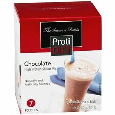 Lot of 2 Proti Diet Chocolate and Vanilla Shake  high 15g protein 7 pouches/box