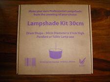 Pantalla De Tambor 30cm Kit de fabricación para adaptarse a una mesa Lámpara de luz de techo colgante o