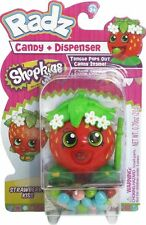 Radz Brand Shopkins Toy Candy Dispenser and Candy Strawberry Kiss
