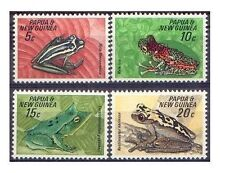 Papua New Guinea 1968 FROGS Set(4) Unhinged Mint SG 129-32