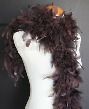 """45g 52"""" long Chocolate Brown chandelle feather boa, diva night, dress up dancing"""