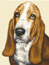 BASSETT HOUND dog ~ Complete counted cross stitch sewing kit