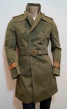 Rare BURBERRY Prorsum Mainline Khaki Green Military Style Trench Coat Jacket 4o