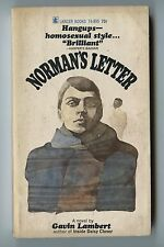 Old Vintage 1966  Paperback Novel Norman's Letter by Gavin Lambert Gay Interest
