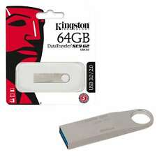 Kingston 64GB Datatraveler SE9 G2 USB 3.0 Flash Drive Durable Metal Casing