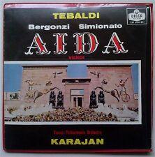 LXT 5539-40 U.K. DECCA TEBALDI/KARAJAN VERDI Aida 2LP+Booklet NM