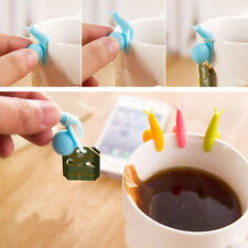 5pcs Cute Snail Mini Tea Bag Holder Hanging Cup Clip