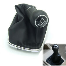 Black 5 Speed Gear Shift Knob Gaitor Gaiters Boot Cover 23mm For VW Golf 4 Bora