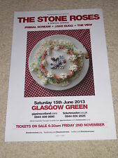 The Stone Roses - rare music concert gig tour poster