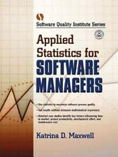 Applied Statistics for Software Managers (Software Quality Institute S-ExLibrary