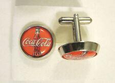 Coca-Cola  Cuff Links , Coca Cola logo cufflinks , Coke Souvenir cuffs
