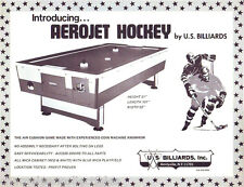 AEROJET AIR HOCKEY By US BILLIARDS ORIG VINTAGE ARCADE GAME SALES FLYER BROCHURE