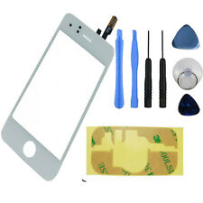 IPhone 3G Front Touch Screen Digitizer Glass Lens pannello Strumenti + Adesivo Bianco UK