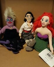 Disney Bean Bag Plush - ARIEL (The Little Mermaid) Eric and Ursula Set of 3