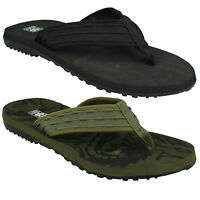MENS A0043 FLAT TEXTILE TOE POST SLIP ON FLIP FLOP MULE SANDALS DOWN TO EARTH