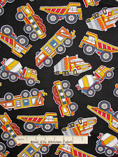 Truck Fabric - Dump Haul Cement Trucks Benartex #05897 Under Construction - Yard
