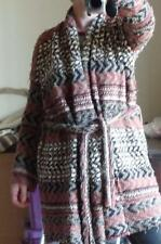 NWT $168 Free People Belted cardigan Coat Indian Blanket Fair Isle Chunky S S-L