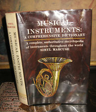 MUSICAL INSTRUMENTS: A COMPREHENSIVE DICTIONARY 608 PGS OVER 1000 ITEM ENTRIES