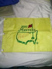 Vijay Singh PGA Golf Signed Official 2000 Masters Pin Flag HOF