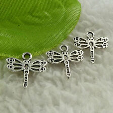 Free Ship 356 pcs tibet silver dragonfly charms 15x14mm #4529