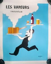 Vintage French Food Poster Mounted on Linen