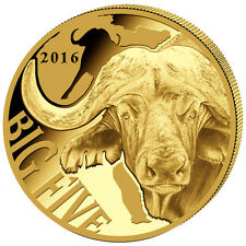 999 Gold pièce d'or Big Five buffle buffle d'eau 2016 100 Fr Francs Cameroun