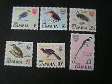 GAMBIA, SCOTT # 222-227(6), 1966 BIRDS ISSUE MNH