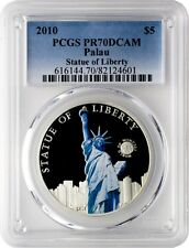2010 Palau World of Wonders Statue of Liberty Colored Coin PCGS PR70DCAM POP 40