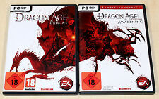 Dragon Age Origins & risveglio-PC COLLEZIONE GIOCHI-Gioco di Ruolo & allargamento