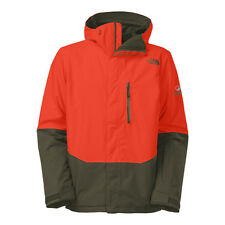 The North Face Men's NFZ INSULATED Gore-Tex Ski Snowboard Jacket Orange Green M