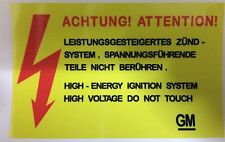Vauxhall Opel SRi GTE GSi Nova Astra Carlton Cavalier Voltage Warning Sticker