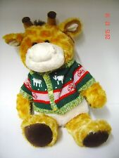 "Christmas Holiday Stuffed PLUSH Tan Moose SWEATER Reindeer COLLECT 22"" SOFT"