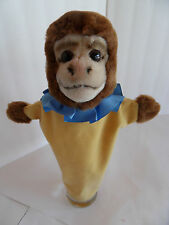 Steiff monkey ape hand puppet  button made in Germany 1487