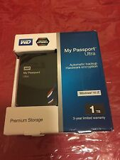 New WESTERN DIGITAL My Passport Ultra 1TB USB 3 Port External Hard Drive