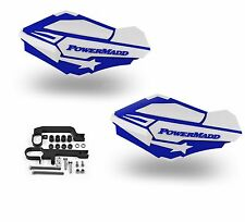 Powermadd Sentinel Handguards Guards Blue White Snowmobile Snow Ski Doo Summit
