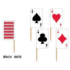 Carte à jouer 50 alimentaire picks - 6 cm de haut-Carte à jouer casino partie vaisselle