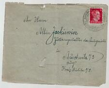 1942 Andrichau Germany to Auschwitz Concentration Camp Cover KZ