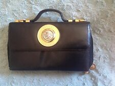 Vintage Versace Medusa Black Clutch/Handbag very hard to find