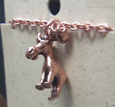"Copper Pendent Moose 18"" Chain Necklace Wheeler Healing Arithitis cn 214"