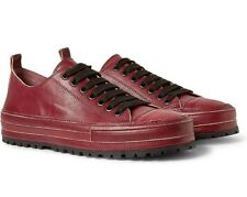 NIB $920 Ann Demeulemeester Low-Top Leather Trainers - EU 45, Red