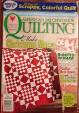 American Patchwork & Quilting Christmas DIY Bonus Gift Dec 2014 FREE SHIPPING!