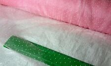 """Luxury Organza Sheer Light Pink Fabric 53"""" Wide Sold By Metre Voile +3D Design"""