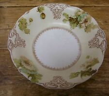 Silesia Old Ivory Round Vegetable Bowl Flower Floral Crack