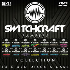 Switchcraft échantillons 14 x DVD - 24bit wav studio / music production Ensemble Cadeau