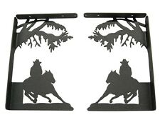 Barrel Racer Shelf Brackets - Set of 2 - Rodeo - Metal Art - 18 Gauge Steel
