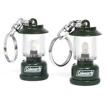 Lot of 2 Coleman Collectible Gas Lantern Keychains - Batteries Included!